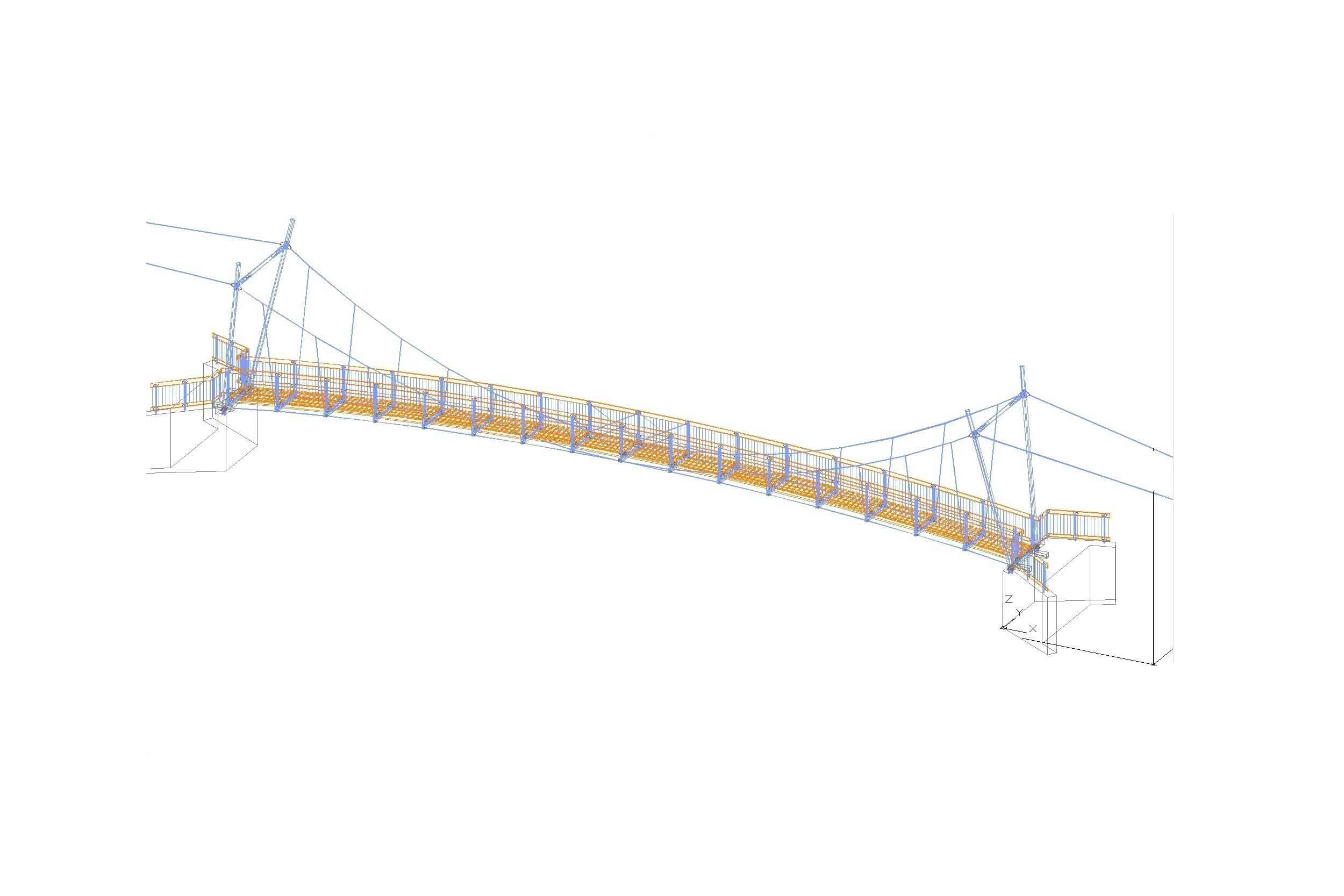 Brückenbau - Seilsteg Reichraming