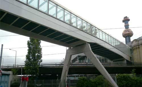 Brückenbau - Skywalk - Spittelau