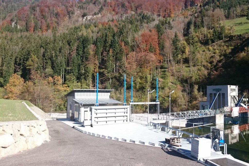 Wasserbau- KW Gaissulz, Fluss Ybbs