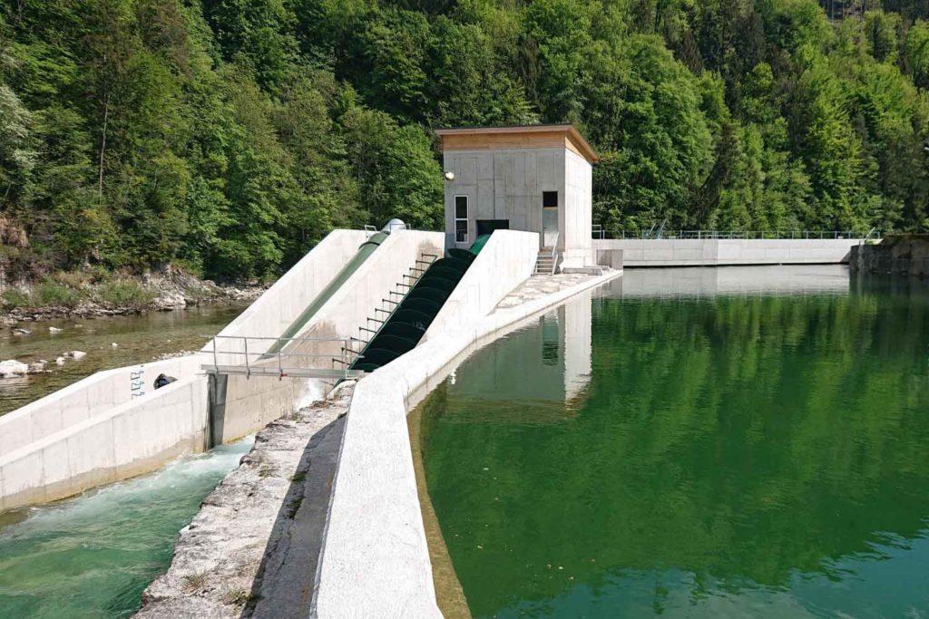 Wasserbau - KW Haunoldmühle, Fluss Steyr