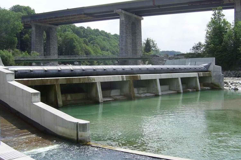 KW Mühltalwehr, Fluss Traun
